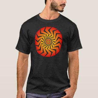 Camiseta Teste padrão espiral psicadélico: Arte do vetor: