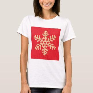 Camiseta Teste padrão feito malha do floco de neve