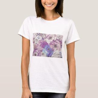 Camiseta Teste padrão floral do papel de parede do vintage