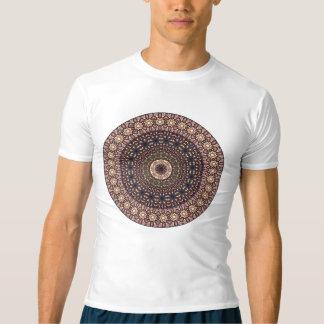 Camiseta Teste padrão floral étnico abstrato colorido da