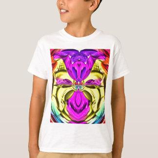 Camiseta Teste padrão florescente legal do abstrato do