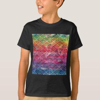 Camiseta Teste padrão geométrico abstrato