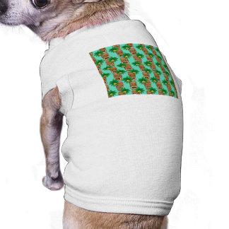 Camiseta Teste padrão havaiano da repetição de Tiki