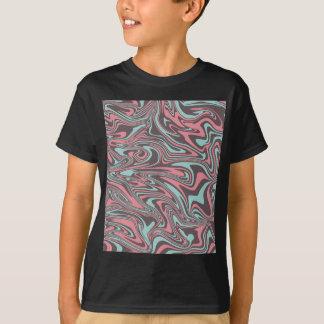 Camiseta Teste padrão líquido abstrato