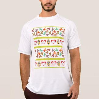 Camiseta Teste padrão psicótico da páscoa colorido
