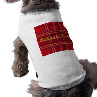 Camiseta Teste padrão real do Natal do Tartan de Stewart