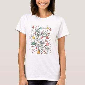 Camiseta Teste padrão sem emenda do Succulent e dos