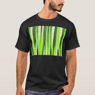 Camiseta Teste padrão Stripy verde eterno
