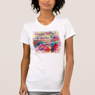 Camiseta Teste padrão Textured da xadrez do amor do riso