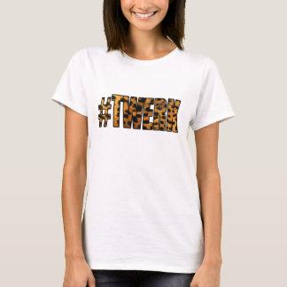 Camiseta Teste padrão TWERK do leopardo