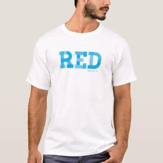 Camiseta Teste T do idiota - VERMELHO AZUL de |