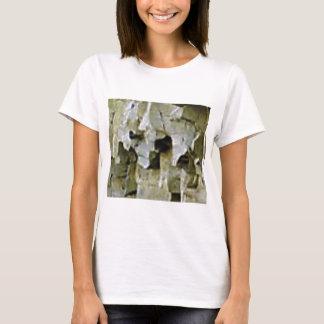 Camiseta teto branco áspero da rocha