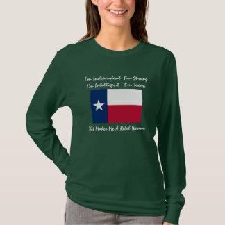 Camiseta texas-bandeira, eu sou independente mim sou