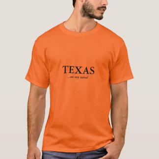 Camiseta Texas em minhas mente/laranja