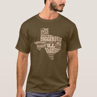 Camiseta Texas orgulhoso - forma de Texas (gráfico claro)