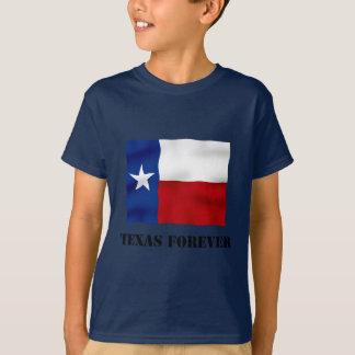 Camiseta TEXAS PARA SEMPRE - texto da bandeira -