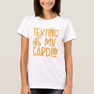 Camiseta Texting é meu cardio-