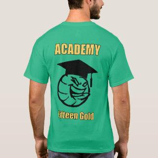 Camiseta texto amarelo e da bola parte traseira sobre