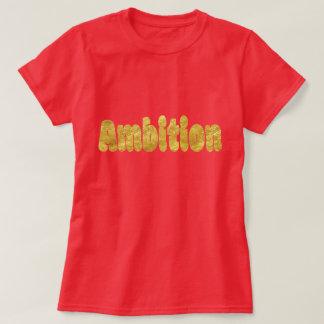 Camiseta Texto borbulhante da folha de ouro