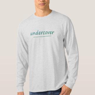 Camiseta Texto brilhante secreto engraçado de turquesa
