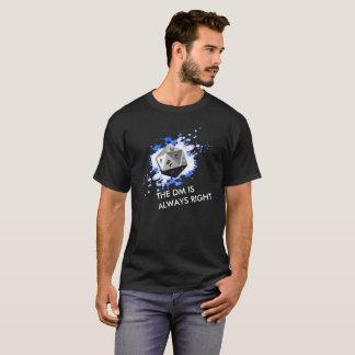 Camiseta TEXTO CUSTOMIZÁVEL o mestre do Dungeon sempre
