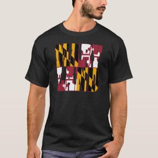 Camiseta Texto da bandeira do estado de Maryland