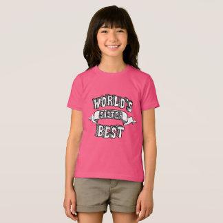 Camiseta Texto da tipografia da irmã do mundo o melhor