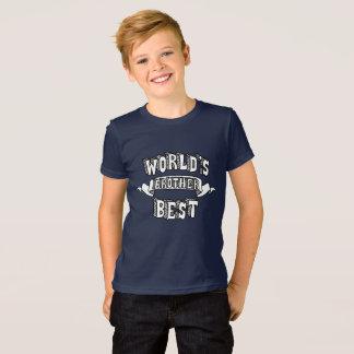 Camiseta Texto da tipografia do irmão do mundo o melhor