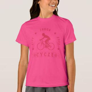 Camiseta Texto da Vida Riso Amor Ciclo da senhora (rosa)