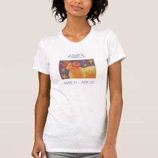 Camiseta Texto das senhoras do t-shirt do Aries do zodíaco