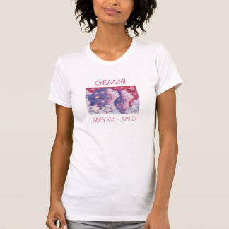 Camiseta Texto das senhoras do t-shirt dos Gêmeos do