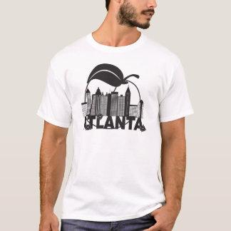 Camiseta Texto do branco do preto do Dogwood do pêssego da