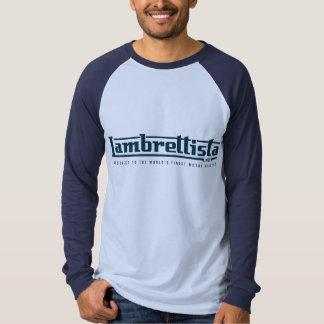 Camiseta Texto do cinza do logotipo de Lambrettsita