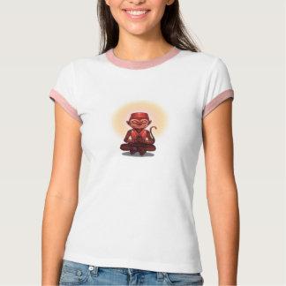 Camiseta Texto do costume do macaco do zen