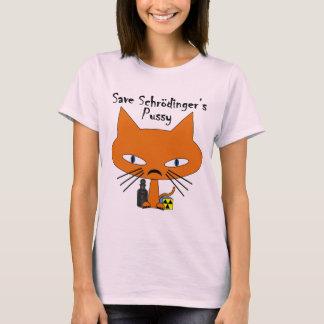 Camiseta Texto do preto do bichano de Schrodingers