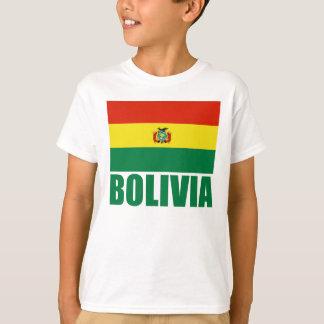 Camiseta Texto do verde da bandeira de Bolívia