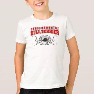 Camiseta Texto do vermelho do COA de Staffordshire bull