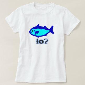 Camiseta Texto em Tsetsaut: ɬoʔ e um peixe azul