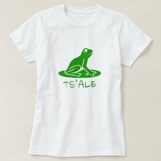 Camiseta Texto em Tsetsaut: ts'alε e um sapo verde