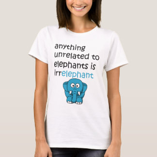Camiseta Texto engraçado do elefante dos desenhos animados