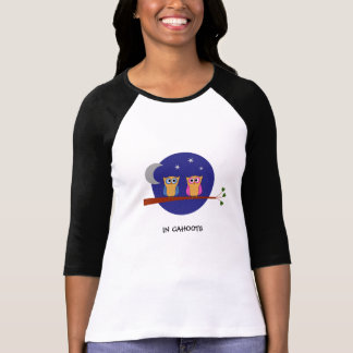 Camiseta Texto feito sob encomenda das corujas de noite nos