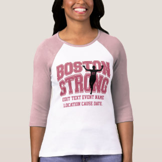 Camiseta TEXTO forte de Boston Personalizable EDIT