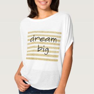 Camiseta texto grande ideal elegante em um ouro e em um
