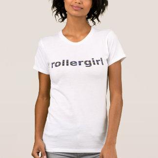 Camiseta texto opalescent do rollergirl