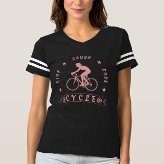 Camiseta Texto redondo da Vida Riso Amor da senhora (rosa)