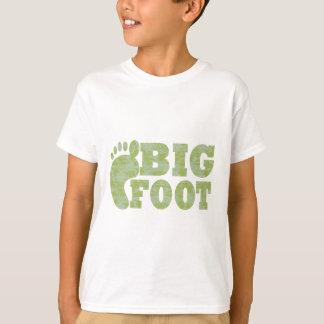 Camiseta Texto verde de Bigfoot da camuflagem
