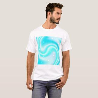 Camiseta Textura azul do líquido do redemoinho