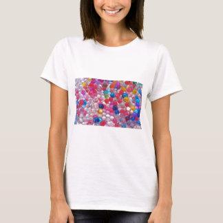 Camiseta textura das bolas da geléia do colore