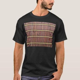 Camiseta textura de bambu da esteira