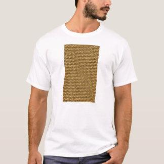 Camiseta Textura do teste padrão de Weave de cesta da cor